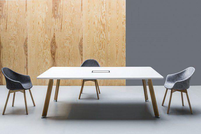 Stół konferencyjny System: Simplic Krzesło System: Mamu
